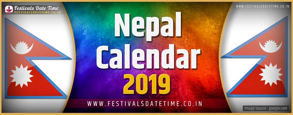 2019 Nepal Festivals Calendar, 2019 Nepal Holidays Calendar