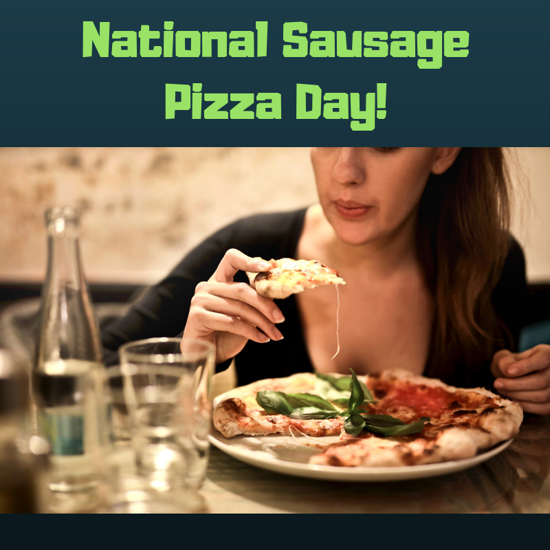 National Sausage Pizza Day Wishes Images download