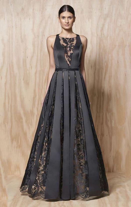 vestido de festa preto longo gode