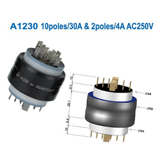 Asiantool A1230 Electrical Rotating Connector Multi conductors