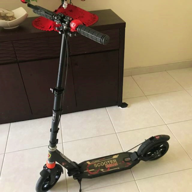Black Urban Scooter with Disc Brake
