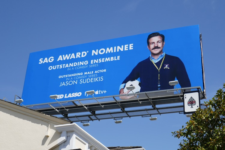 Ted Lasso SAG Awards nominee billboard