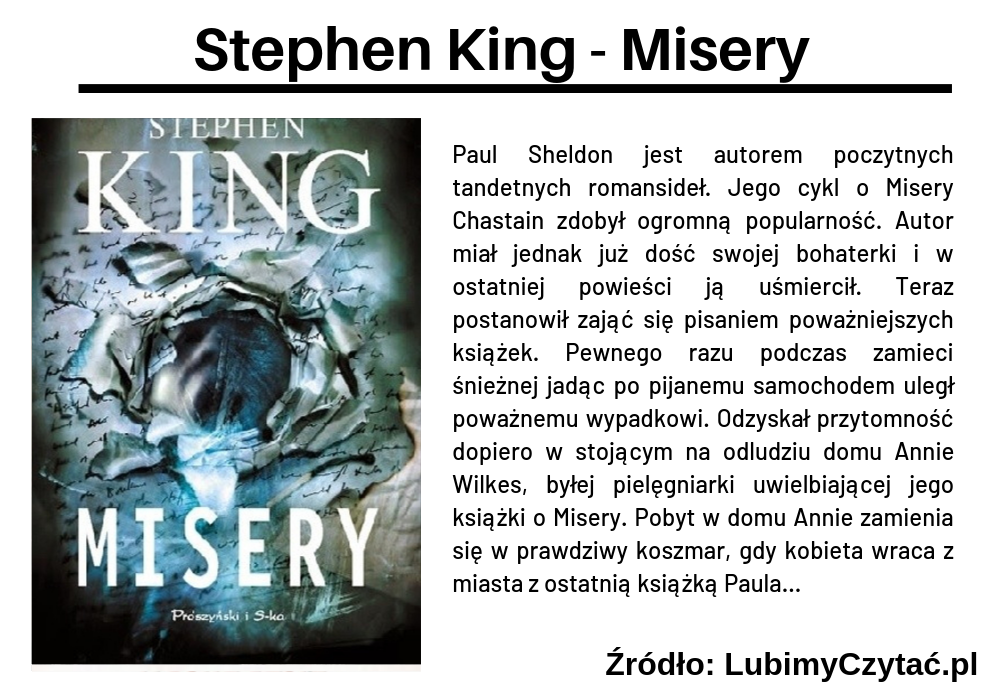 Stephen King - Misery, Topki, Marzenie Literackie