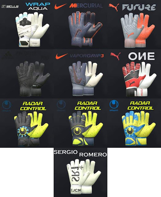 New Gen Mercurial Mini Glovepack For PES 17-19 by Tisera09