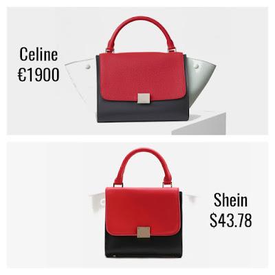 Designer Dupes Look For Less Celine Colourblock Small Trapeze Bag