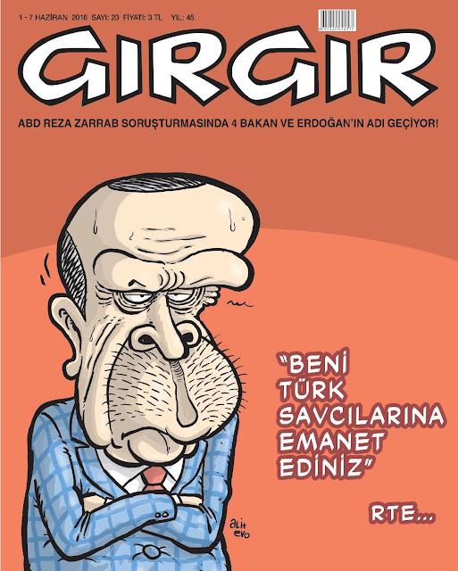 Gırgır Dergisi - 1-7 Haziran 2016 Kapak Karikatürü
