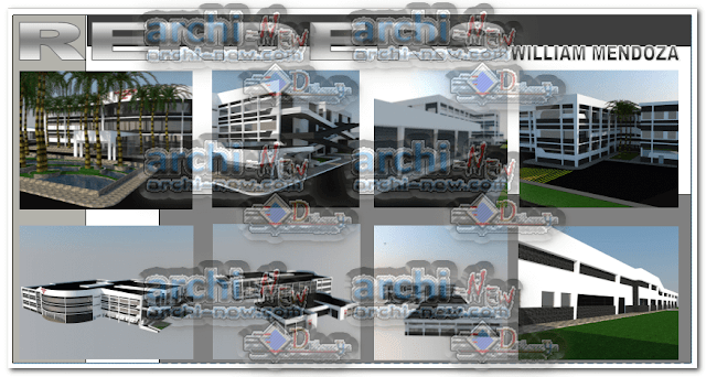 Vertical projections of the project (sections ( hospital hospice project dwg