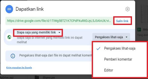 Cara Membuka Akses Google Drive Untuk Semua Orang Giant Fahrianto