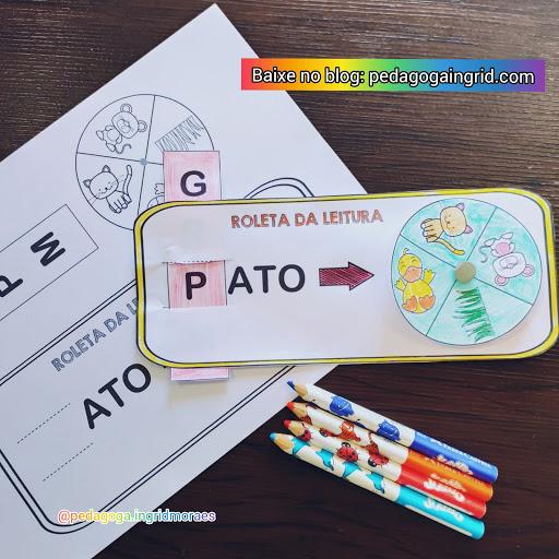 Imagem de jogos pedagógico roleta da leitura feita