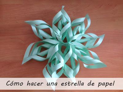 estrella papel navidad