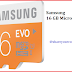 Buy Samsung MicroSDHC 16 GB Class 10 Evo
