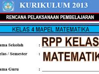 Download RPP Matematika K13 SD Revisi Kelas 4 Terbaru