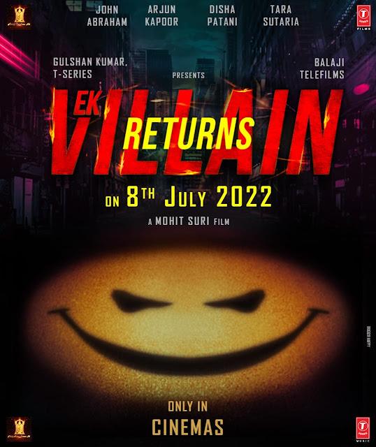 full cast and crew of Bollywood movie Ek Villain Returns (Ek Villain 2) 2022 wiki, movie story, release date, Actor name poster, trailer, Video, News, Photos, Ek Villain Returns Wallpaper, Wikipedia
