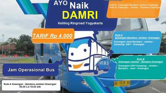 Damri Yogyakarta: Pool, No Telp, Jadwal, Rute dan Harga Tiket