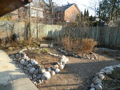 Toronto gardening company Riverdale spring 2018 garden cleanup before Paul Jung Gardening Services