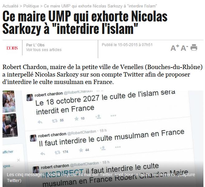 L'UMP veut interdire l'islam