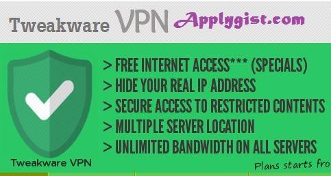 Download Latest Tweakware VPN Tweakware v5.0
