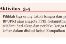 Soal dan Jawaban Aktivitas 3.4 Teladan dari 3 Tokoh pendiri Bangsa, PKN kelas 7 halaman 75