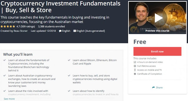 [100% Free] Cryptocurrency Investment Fundamentals | Buy, Sell & Store
