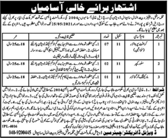 social-welfare-and-bait-ul-mal-department-sahiwal-jobs-2021-advertisement