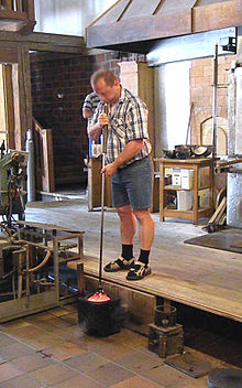 A Glassblower at His Work