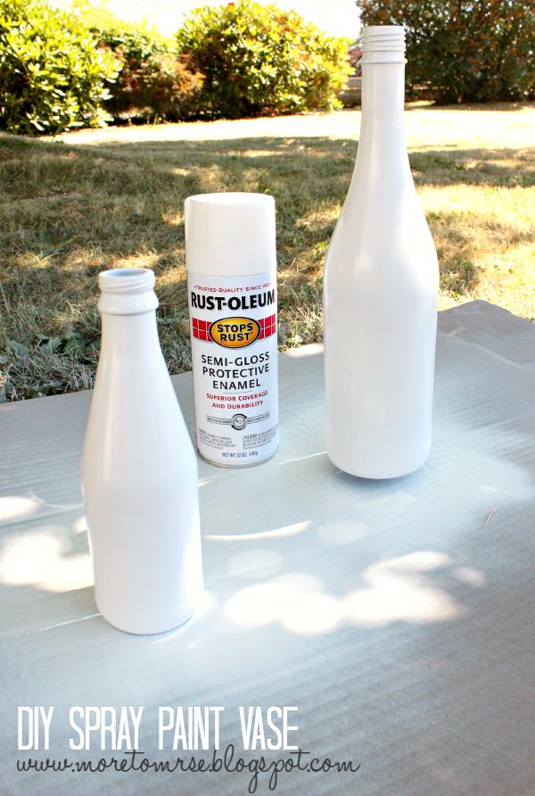 diy spray paint vase more to mrs e. Black Bedroom Furniture Sets. Home Design Ideas