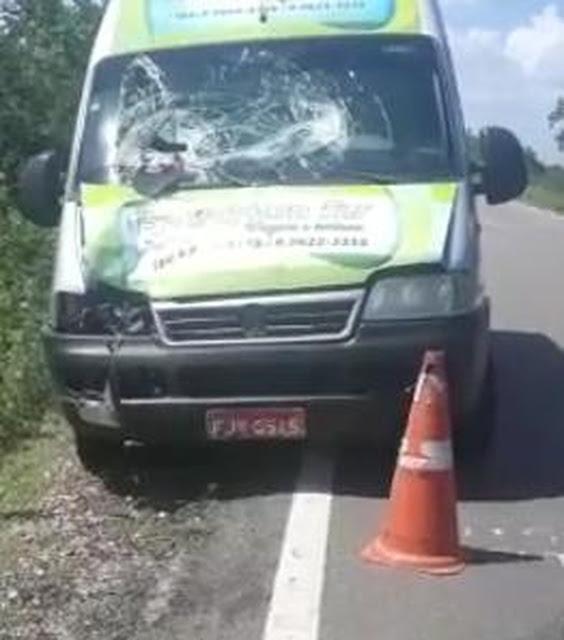 Homem que trabalhava em obra na BR-405 morre atropelado por van no Oeste do RN