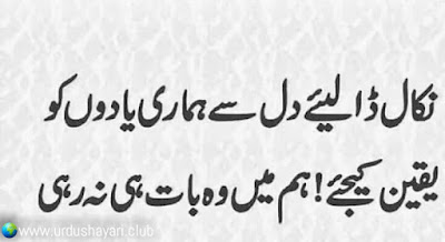 Nikal Daliye Dil Say Humari Yadoon Ko.  Yakeen Kejiye, Hum Mein Wo Baat He Na Rahi..!!  #shayari
