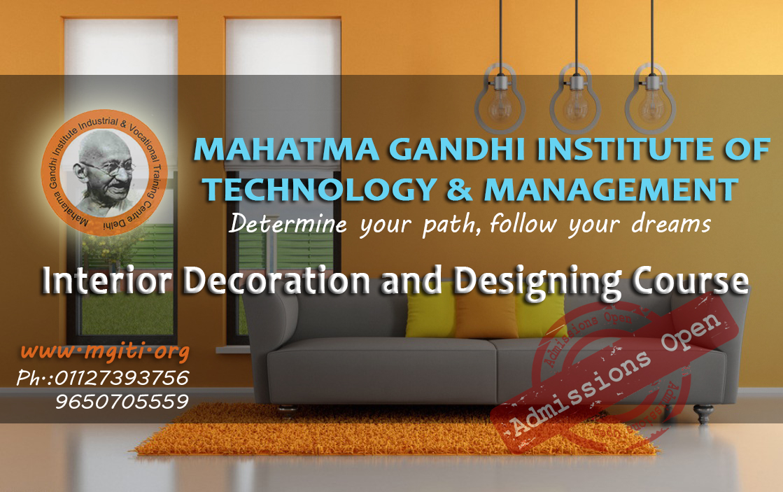 Mahatma Gandhi Industrial Training Institute Piping Layout Course In Delhi Interior Decoration And Designing Admission 2017