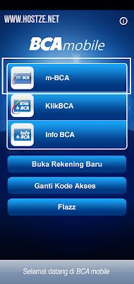 Depan halaman Mobile Banking BCA - hostze.net