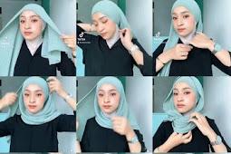 Cara Memakai Jilbab Pashmina Plisket Simple Dan Mudah Untuk Remaja
