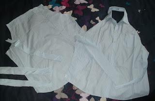 fartuch z koszuli