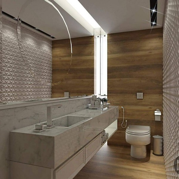 3D bathroom tile in triangular shape