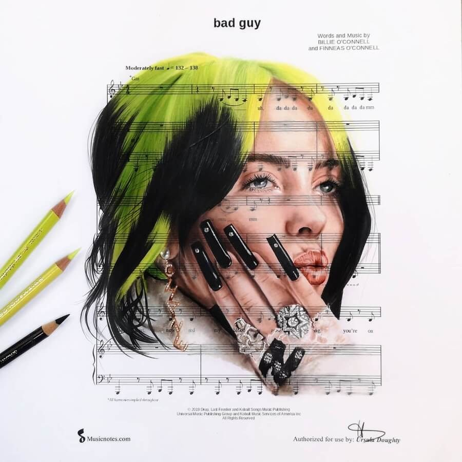 04-Bad-guy- Billie-Eilish-Ursula-Doughty-www-designstack-co