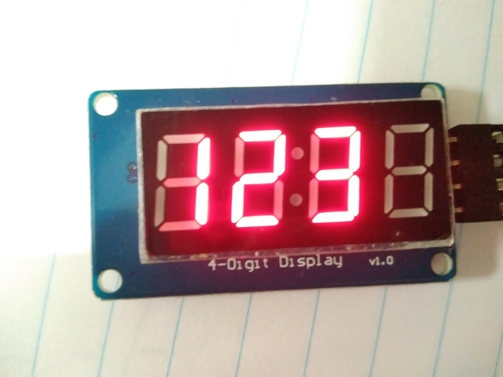 Fun with electronics and sensors: 4-Digit Seven Segment TM1637