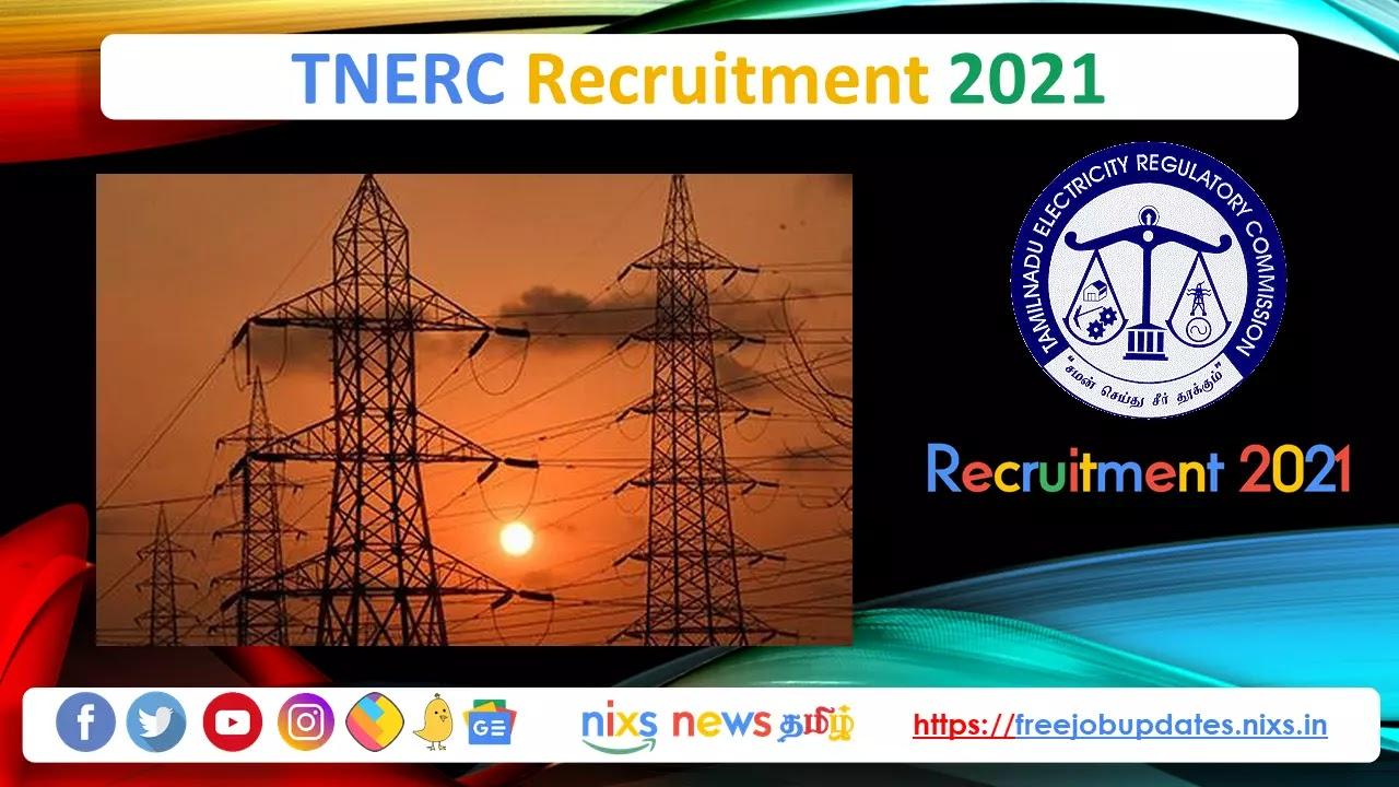 TNERC Recruitment 2021 03 PA Posts - Apply Online