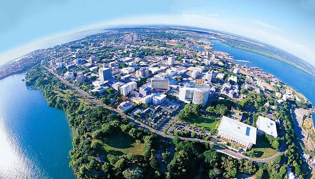 Vista aérea da cidade de Darwin - Austrália