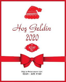 Kitap Evi Otel Bursa Yılbaşı Programı 2020 Menüsü