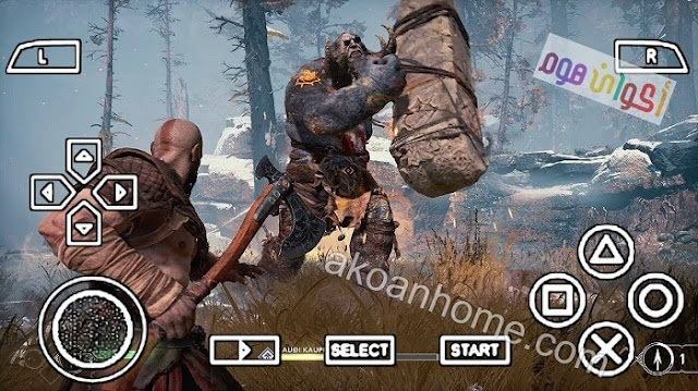 تحميل لعبة God of War 4 للاندرويد ppsspp بحجم صغير APK