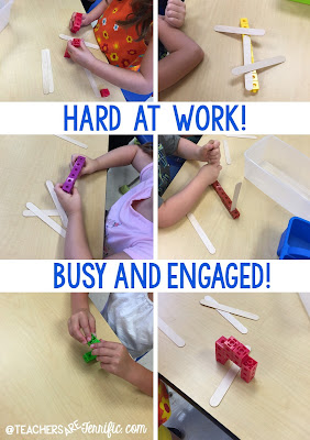 First Grade STEM: They talked about the task, they solved problems when things would not stay in place, and they rebuilt when they got knocked down. They were fabulous! Read more on this blog post!