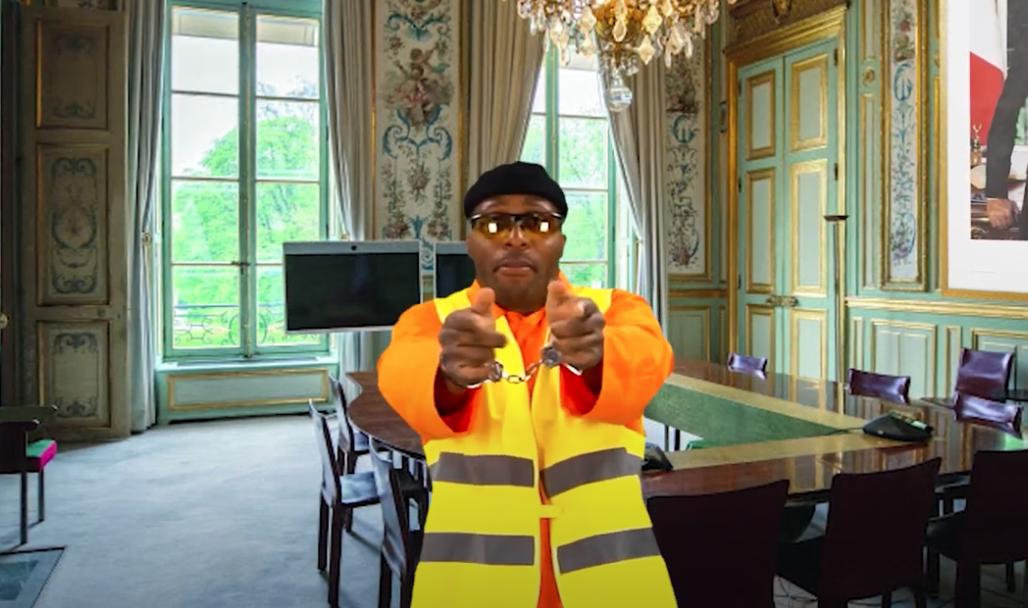 """Photo de Rocky H extraite du clip """"Macron!!! Copie pas les comiques !"""""""