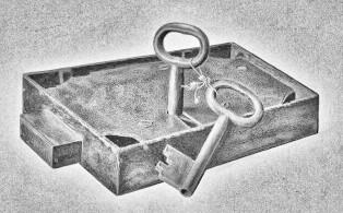 Bar Lock and Keys; Alexander Anderson