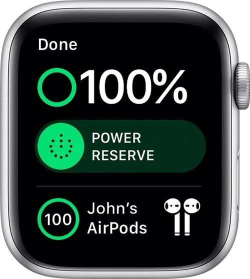 تحقق من عمر بطارية Airpods لـ Apple Watch