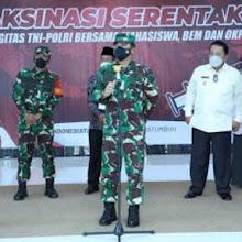 Kasrem 043/Gatam Dampingi Pangdam II/Swj Mayjen TNI Agus Suhardi Sambut Panglima TNI  Dan Kabaharkam  POLRI