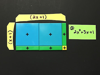 How to factor a trinomial with algebra tiles when the A value is greater than 1