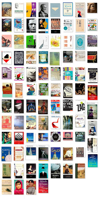Over 90 book cover collage