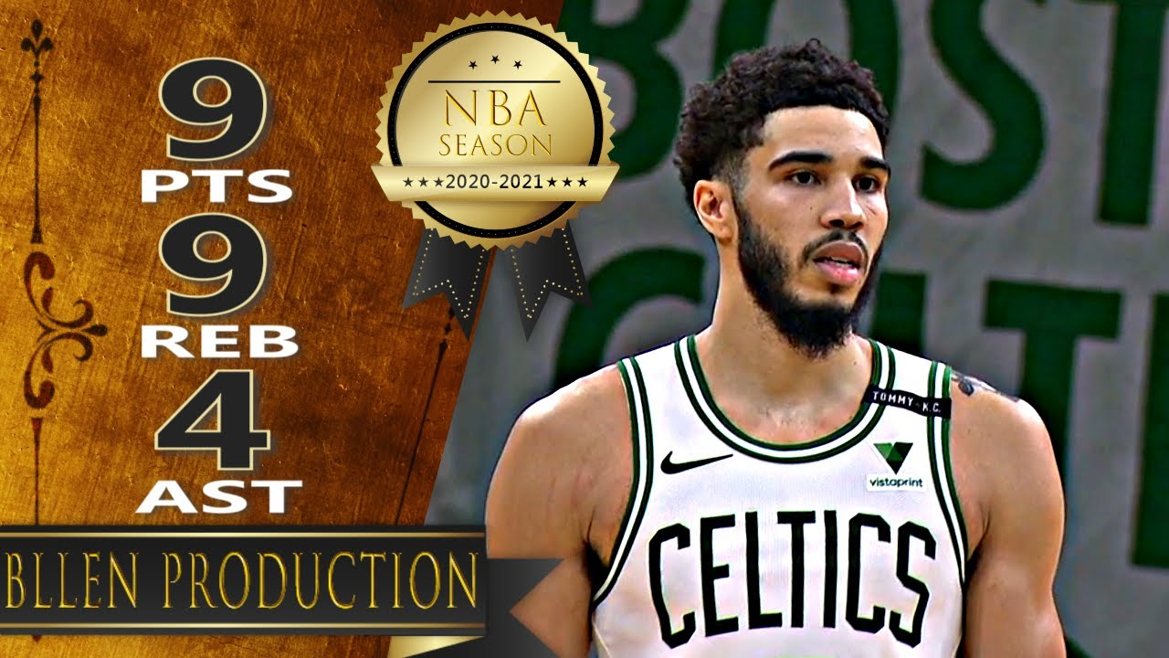 Jayson Tatum 9pts 9reb 4ast vs IND   February 26, 2021   2020-21 NBA Season