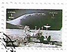 Selo Astronauta Irwin e o Rover Lunar
