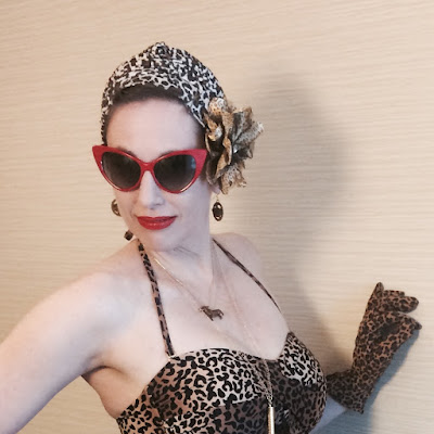 Miss Carriger At San Diego Comic Con 2017 in Leopard & Red