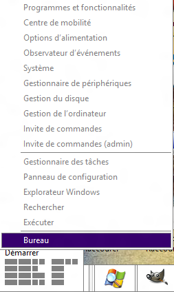 Menu démarrer Windows 8